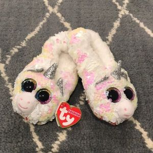 Other - Girls, Ty beanie slippers, size Large, 4-6